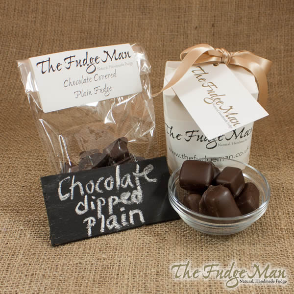 Chocolate Covered Plain Fudge